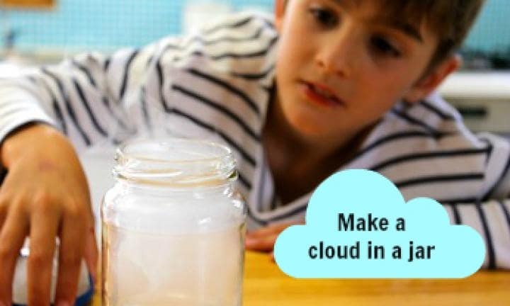 how to make a cloud in a jar without matches