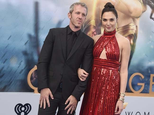 "Gal Gadot and her husband Yaron Versano at the world premiere of ""Wonder Woman"" on May 25, 2017. Picture: Jordan Strauss/Invision/AP"