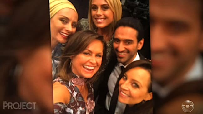 Lisa Wilkinson with Carrie Bickmore, Sylvia Jeffreys, Waleed Aly and wife Dr Susan Carland.