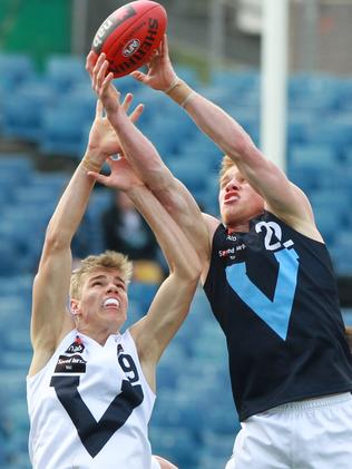 Vlastuin marks playing for Vic Metro in the under-18 championships.
