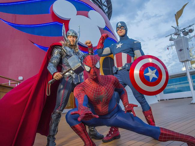 Stan Lee is responsible for some of Marvel's biggest characters from Thor, Captain America and Spider-man. Picture: Marvel Day on Disney Magic.