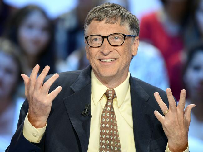 Good deeds ... Prince Alwaleed bin Talal's pledge is modelled on a charity established by Microsoft founder Bill Gates (pictured) in the US. Picture: AFP/Bertrand Guay