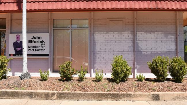 MLA John Elferink's office was defaced after video footage was released showing the barbaric treatment of juveniles at Don Dale Detention Centre in Berrimah, NT.