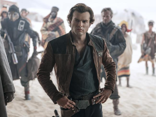 Han Solo was originally played by Harrison Ford. Now Alden Ehrenreich is trying to make the role his own. Picture: Jonathan Olley/Lucasfilm via AP
