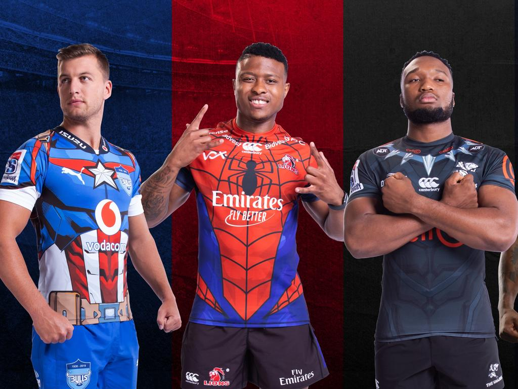 South African Super Rugby teams will wear Marvel jerseys in 2019.