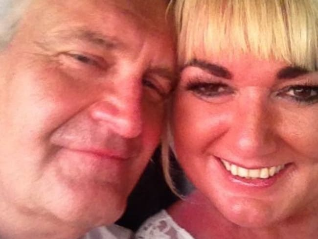 David Edwards and wife Sharon who is standing trial for his murder.