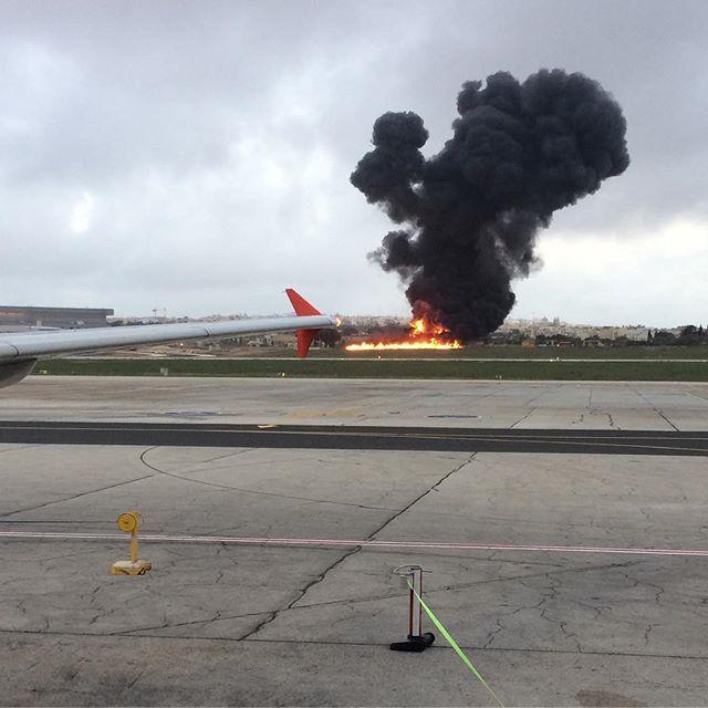 MALTA: Video Captures Aftermath of Malta Airport Crash October 24