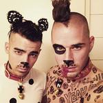 Halloween 2016 via social media ... Joe Jonas and Cole Whittle. Picture: Instagram