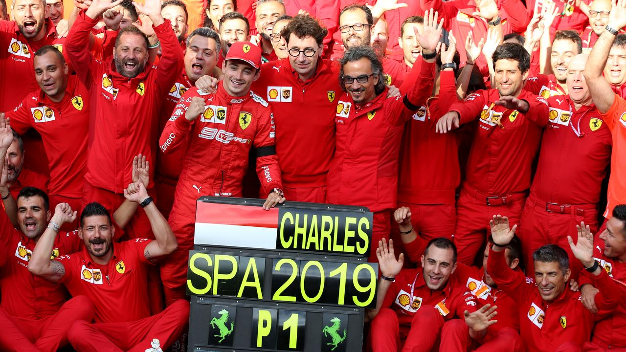 All in Ferrari were ecstatic to win, and for Charles to do it.