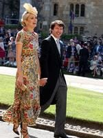 Prince's Harry's friend, British singer James Blunt (C) and and Sofia Wellesley arrive for the wedding ceremony of Britain's Prince Harry and US actress Meghan Markle at St George's Chapel, Windsor Castle on May 19, 2018 in Windsor, England. Credit: Chris Radburn - WPA Pool/Getty Images