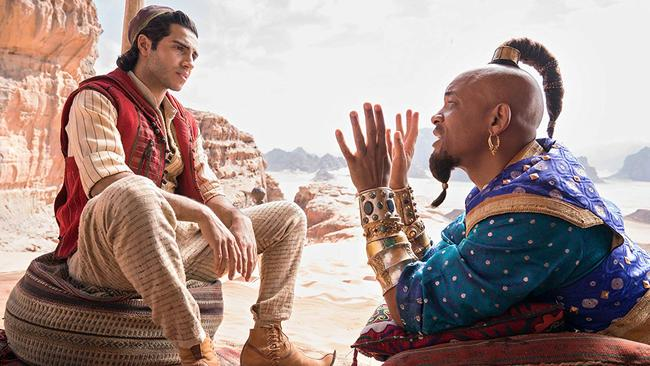 Will Smith's Genie is, thankfully, not always blue