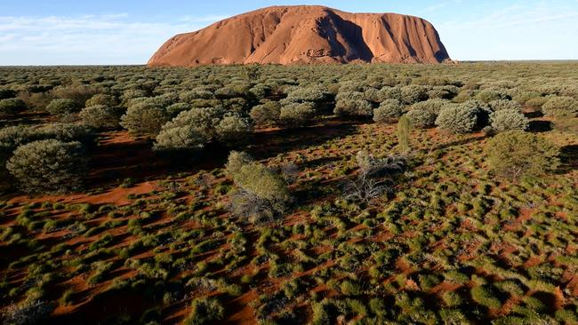 The footage also provides a stunning view of the land surrounding Uluru. Picture: Voyages indigenous Tourism Australia