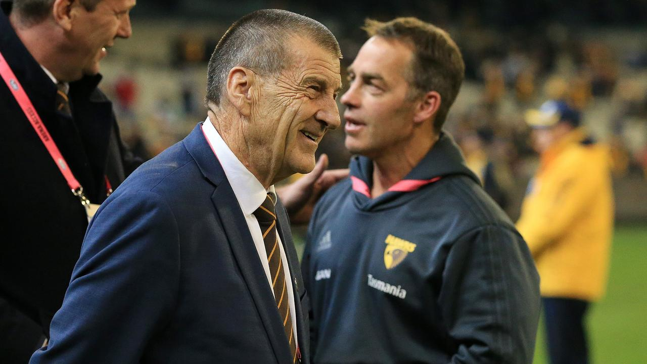 Jeff Kennett and Alastair Clarkson's relationship has been thrust into the spotlight once again (Picture: Mark Stewart).