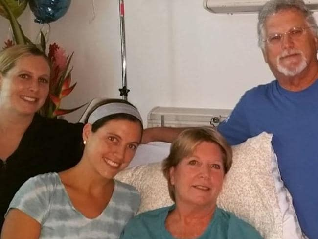 Support network ... Vicki Gardner surrounded by her loved ones in hospital. Picture: CNN
