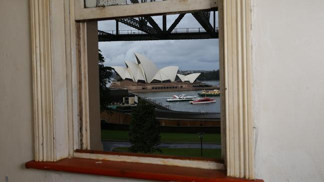 The view from 5 Lower Fort St, Millers Point. Picture: Craig Wilson.