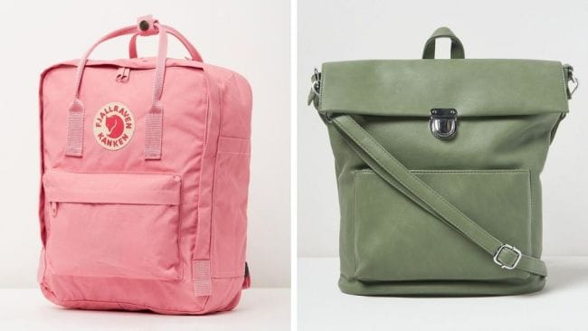 Fjällräven's Kånken, $144.95 / Urban Originals - Solo Origin, $99.95. Image: The Iconic