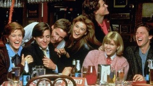 Demi Moore and the cast of St Elmo's Fire in 1985. Picture: Supplied
