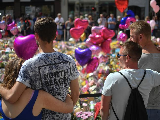 A memorial site was set up in the days following the attack. Picture: Anthony Devlin/Getty Images