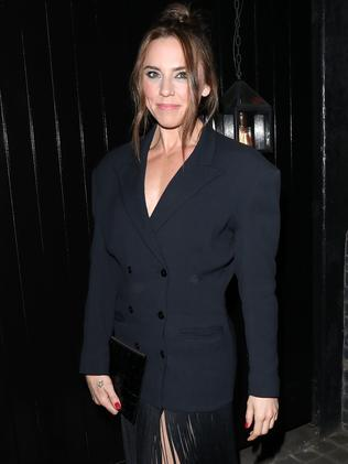 Sporty Spice Mel C arrives at Kylie Minogue's 50th. Picture: Neil Mockford/GC Images
