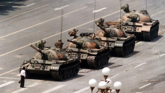 """Ironically, """"Tiananmen"""" means """"Gate of heavenly peace"""". Picture: AP / Jeff Widener"""
