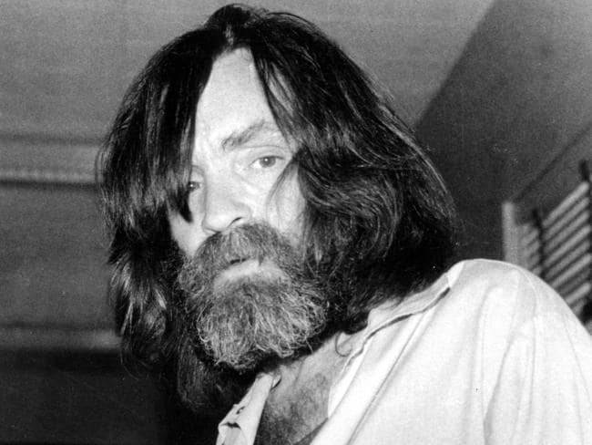 Convicted murderer Charles Manson. Picture: AP