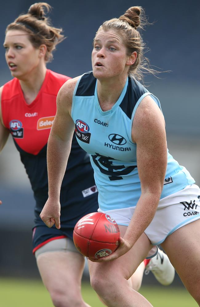 Bri Davey was a standout for the Blues. Picture: David Crosling