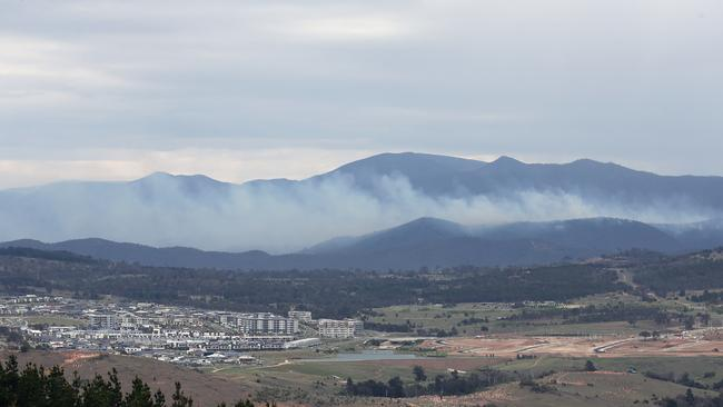 The alert has been upgraded to a watch-and-act. The fire is currently about 130 hectares in size. Picture Gary Ramage