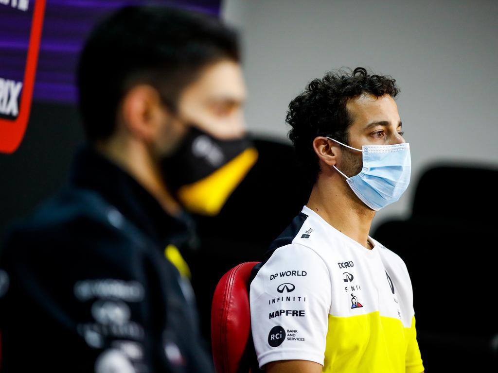 Ricciardo was all over Ocon.