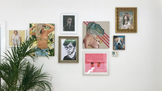 New works by Jemma Cakebread, Rosemary Whatmuff and Dirty Lola. Image: Megan George / Freddy Grant