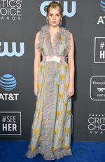 Lucy Boynton attends the 24th annual Critics' Choice Awards at Barker Hangar on January 13, 2019 in Santa Monica, California. (Photo by Frazer Harrison/Getty Images)