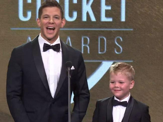 Tim Paine and Archie's double act.