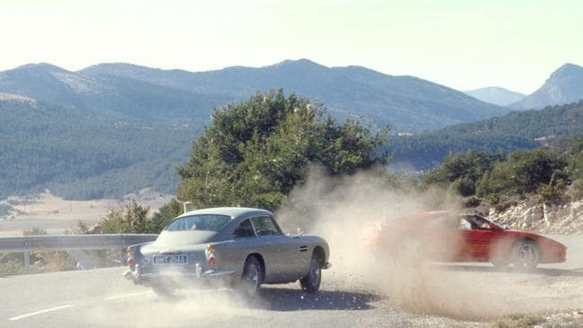James Bond chases Xenia Onatopp through France, he in his Aston Martin DB5 and she in a Ferrari in the 1995 film  <i>Golden Eye</i>. (Photo: Supplied)