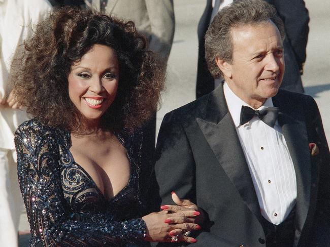 FILE — This Sept. 21, 1986 file photo shows singers Vic Damone, right, and Diahann Carroll at the Emmy Awards in Los Angeles. Picture: AP Photo/Doug Pizac, File