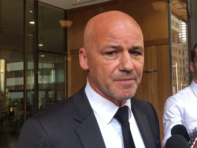 Former NSW homicide detective Gary Jubelin at court today. Picture: Lucy Hughes-Jones