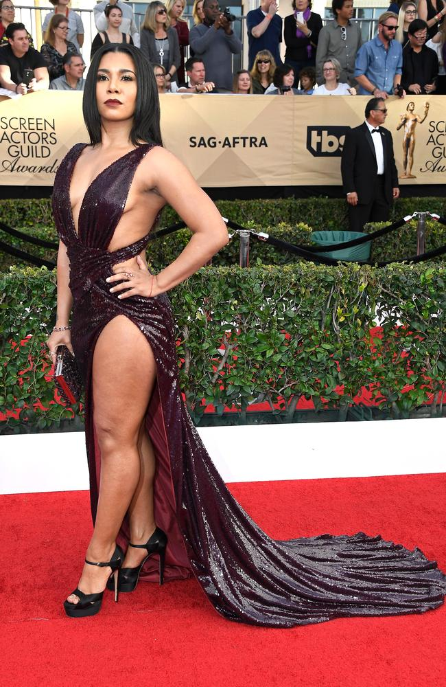 Pimentel dismissed criticisms of her flesh-baring SAG awards gown. Picture: Frazer Harrison/Getty.