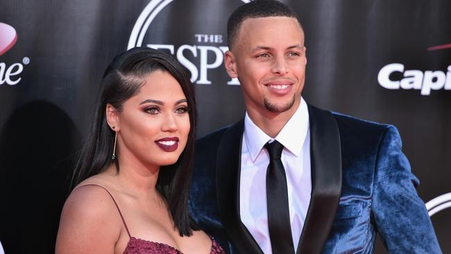Ayesha Curry with her husband, NBA player Stephen Curry. Picture: Alberto E. Rodriguez/Getty Images