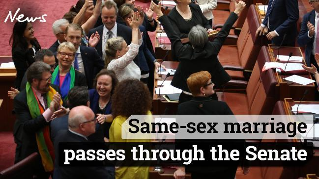 Same-sex marriage has passed through the Senate