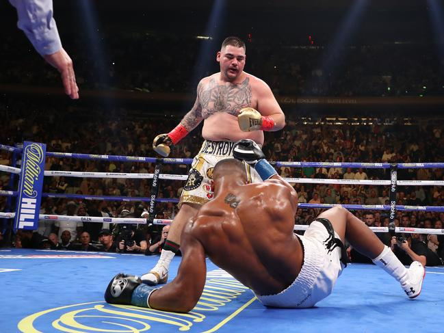 Andy Ruiz Jr took Anthony Joshua's title. Picture: Al Bello/Getty Images/AFP