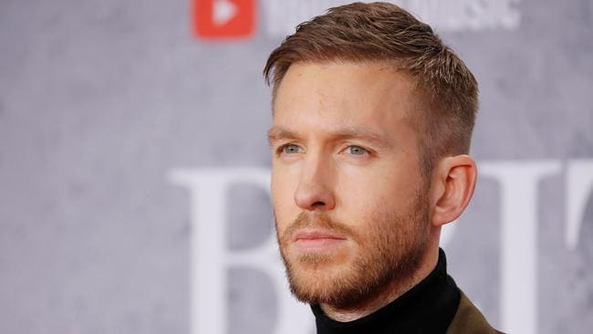 Calvin at yesterday's BRIT Awards. Picture: Tolga AKMEN / AFP