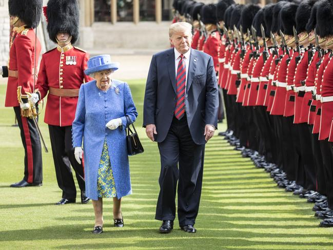 Trump was previously late to Windsor Castle to visit the Queen. Picture: Richard Pohle/WPA Pool/Getty Images