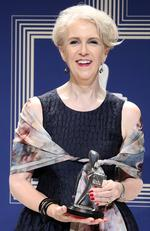 Debra Lawrance poses with the Logie Award for Most Outstanding Supporting Actress 'Please Like Me' during the 59th Annual Logie Awards at Crown Palladium on April 23, 2017 in Melbourne, Australia. Picture: Scott Barbour/Getty Images