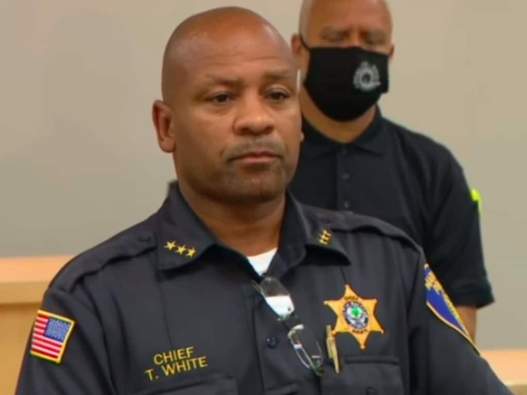 Illinois Police Chief Terry White said officers believe Melvin Martin Jr killed his girlfriend in Louisville, Kentucky, before putting her dismembered body into a suitcase.