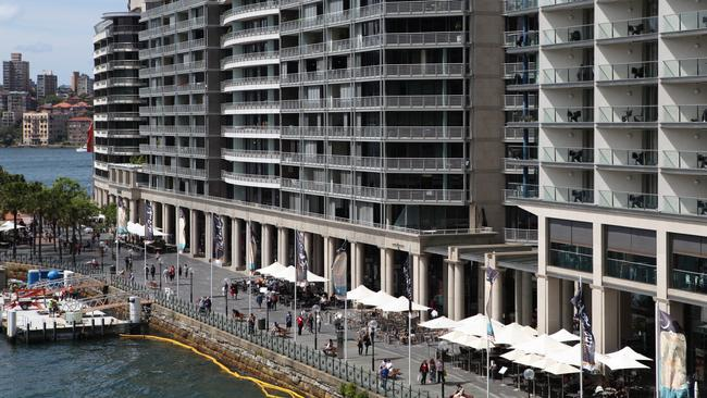 East Circular Quay, in Sydney, is the main thoroughfare to the Opera House.