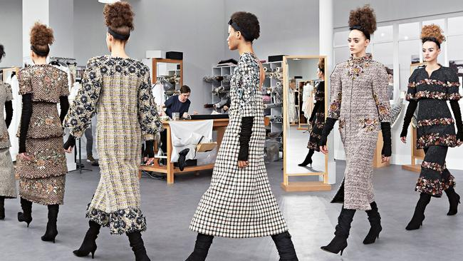 Chanel recreated the ateliers for haute couture Autumn/Winter. Picture: Olivier Saillant