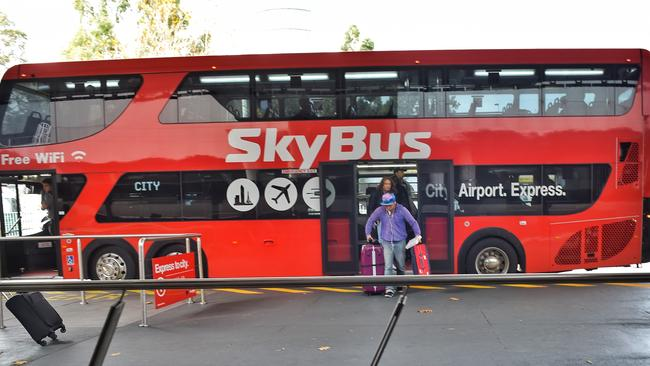 A $10 billion train to Melbourne Airport may actually take longer than the bus. Picture: Tony Gough