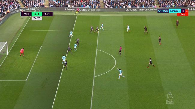 David Silva appeared to be offside before scoring.