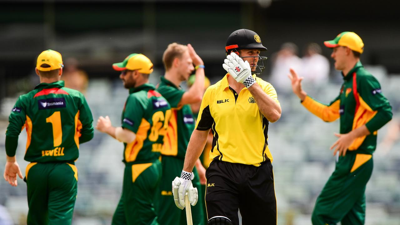 Mitch Marsh playing for WA in the one-day competition last month. (Photo by Daniel Carson/Getty Images)