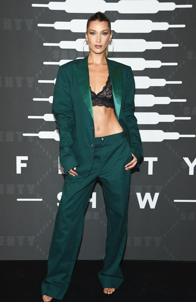 Showing some skin! Bella Hadid. Picture: Getty Images