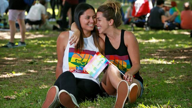 The people of NSW voted Yes to same-sex marriage. Picture: Toby Zerna