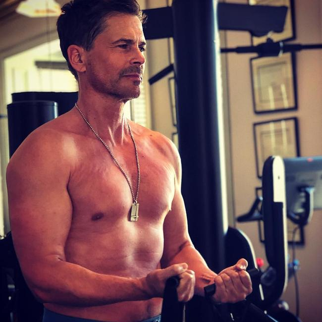 He says he feels and looks better than ever before. Picture: Instagram/RobLowe